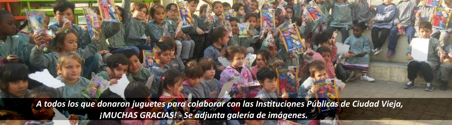 A todos los que donaron juguetes para colaborar con las Instituciones Públicas de Ciudad Vieja, ¡MUCHAS GRACIAS!