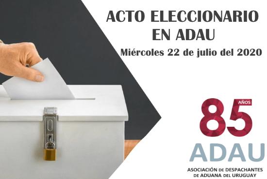 ACTO ELECCIONARIO EN ADAU 2020