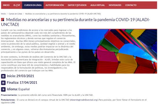 Medidas no arancelarias y su pertinencia durante la pandemia COVID-19 (ALADI-UNCTAD)